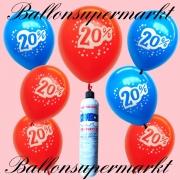 Luftballons Helium Set, Miniflasche, 20 Prozent Rabatt