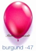 Deko-Luftballons, Kristallfarben, Burgund, 28-30 cm, 25 Stück
