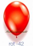 Deko-Luftballons, Kristallfarben, Rot, 28-30 cm, 100 Stück