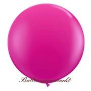 Riesenballon, Riesen-Luftballon, Magenta, 90-100 cm