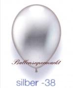 Deko-Luftballons, Metallicfarben, Silber, 28-30 cm, 100 Stück
