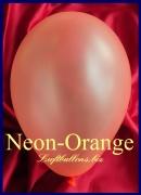 Luftballons Neon, Rundballons in 18-20 cm, Orange, 100 Stück