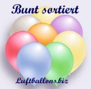 Deko-Luftballons, Perlmuttfarben, Bunt sortiert, 90/100 cm, 100 Stück, Serie 2