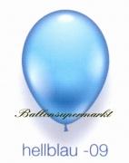 Deko-Luftballons, Standardfarben, Hellblau, 28-30 cm, 25 Stück