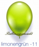Deko-Luftballons, Standardfarben, Limonengrün, 28-30 cm, 25 Stück