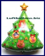 Luftballon Weihnachten, Weihnachtsbaum Winnie the Pooh