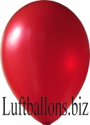 Luftballons Metallic, Rot, 100 Stück, 30 cm