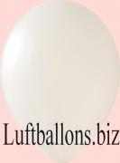 Luftballons Metallic, Weiß, 100 Stück, 30 cm