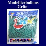 Modellierballons, Grün, 100 Stück