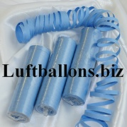Luftschlangen Himmelblau, 1 Rolle