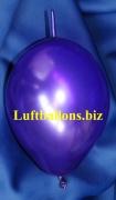 Mini-Girlanden-Luftballons, Violett, Metallic, 15 cm, 100 Stück