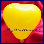 Mini-Herzluftballons, 8-12 cm, Gelb, 100 Stück