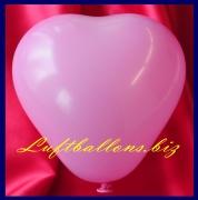 Mini-Herzluftballons, 8-12 cm, Pink, 100 Stück