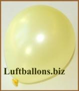 Mini-Luftballons, Metallicfarben, Hellgelb, 50 Stück