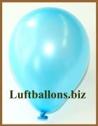 Mini-Luftballons, Metallicfarben, Hellblau, 100 Stück