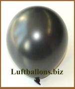 Mini-Luftballons, Metallicfarben, Schwarz, 50 Stück