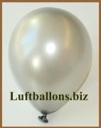 Mini-Luftballons, Metallicfarben, Silber, 100 Stück