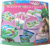 Partybox Kindergeburtstag, 60 Teile Partydekoration