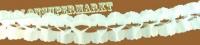 Girlande, Party- und Festdekoration, Seidenpapiergirlande, Weiß, 4 Meter