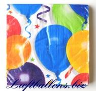 Servietten Balloons and Stars, Papierservietten, Tischdekoration
