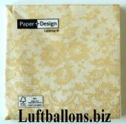 Servietten Dentelle Creme, Papierservietten, Tischdekoration