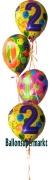 Ballon-Bukett-Silvester, Tischdekoration aus Folien-Luftballons Zahlen 2012-2020