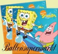 Servietten Schwammkopf, Spongebob