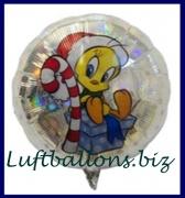 Weihnachts-Luftballon, Tweety mit Weihnachtsmütze