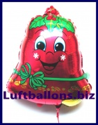 Weihnachtsmann-Luftballon mit Helium, Weihnachtsglocke, Dekoration zu Weihnachten