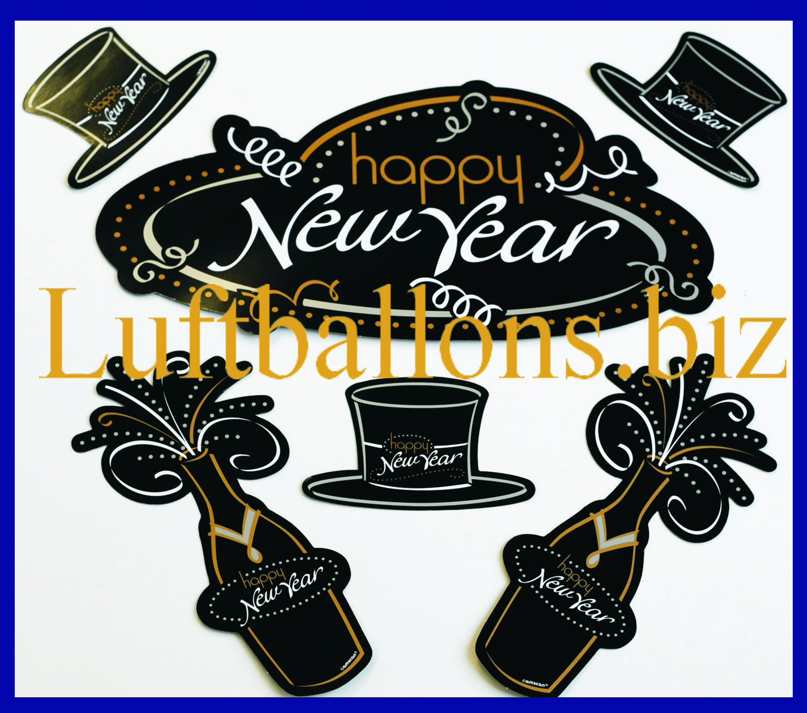 Silvesterdekoration Happy New Year Cutouts Lu Silvester