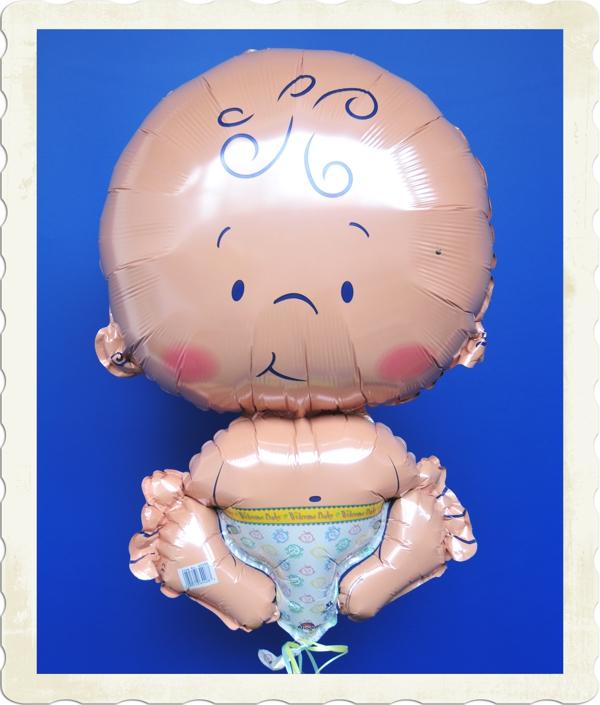 luftballon zur geburt baby mit helium aus folie lu. Black Bedroom Furniture Sets. Home Design Ideas