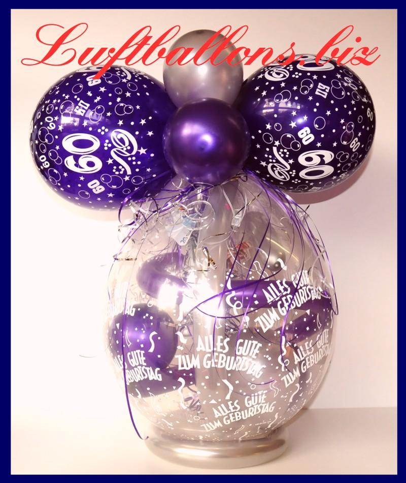 Geschenkballon, Luftballon Zum Verpacken Von Geschenken Zum 60. Geburtstag