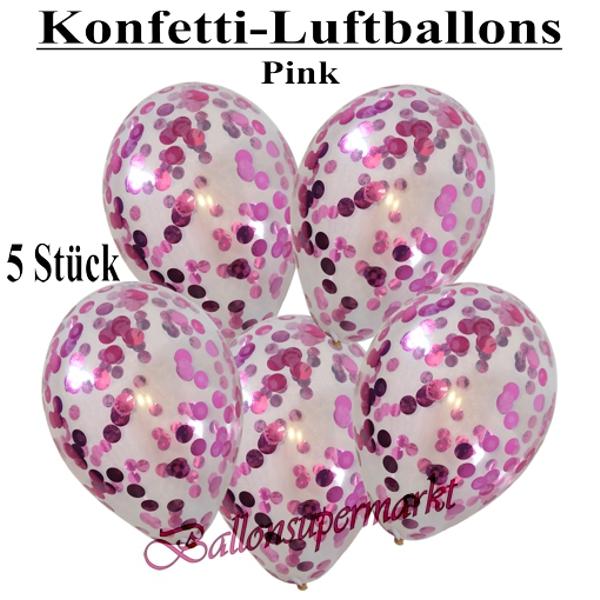 Latex-Luftballons Ø 30 cm Metallicballons 10 Stk pink Dekoballon Raumdeko