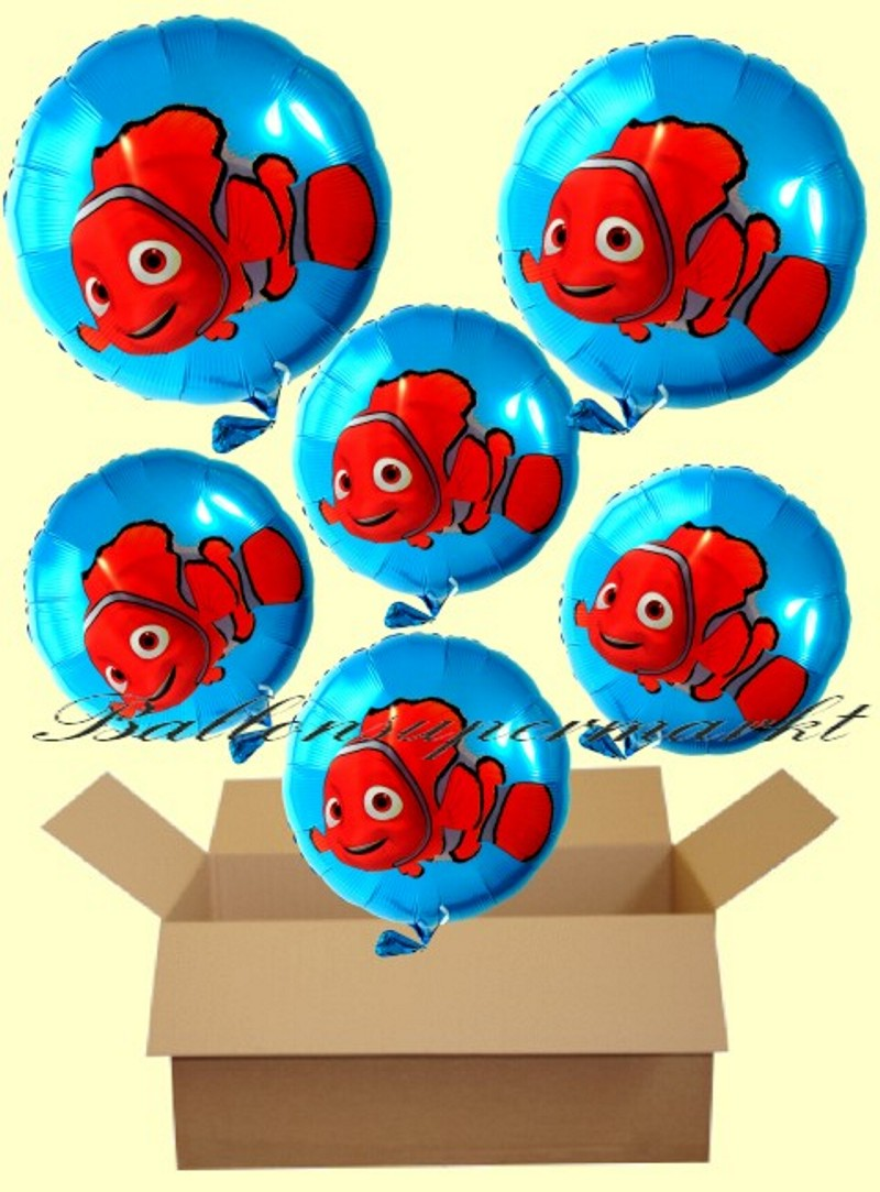 nemo rundluftballons mit helium kindergeburtstag geschenke 6 st ck lu geschenke kinder nemo. Black Bedroom Furniture Sets. Home Design Ideas