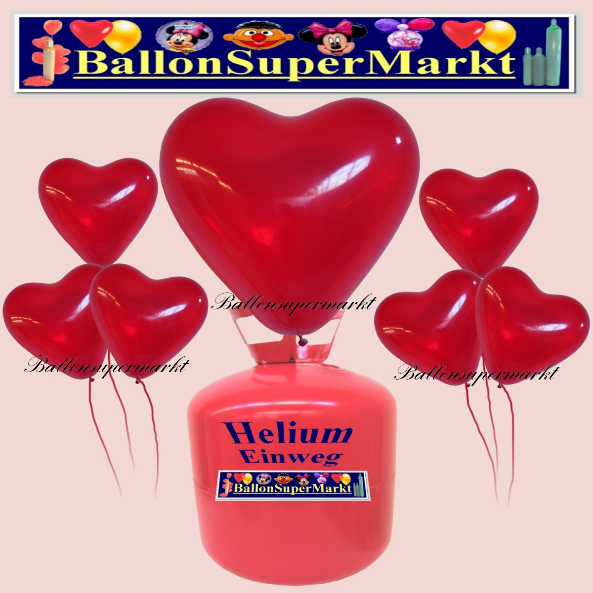 luftballons helium einweg set herzluftballons kristall rot 50 st ck lu hs luftballons helium. Black Bedroom Furniture Sets. Home Design Ideas