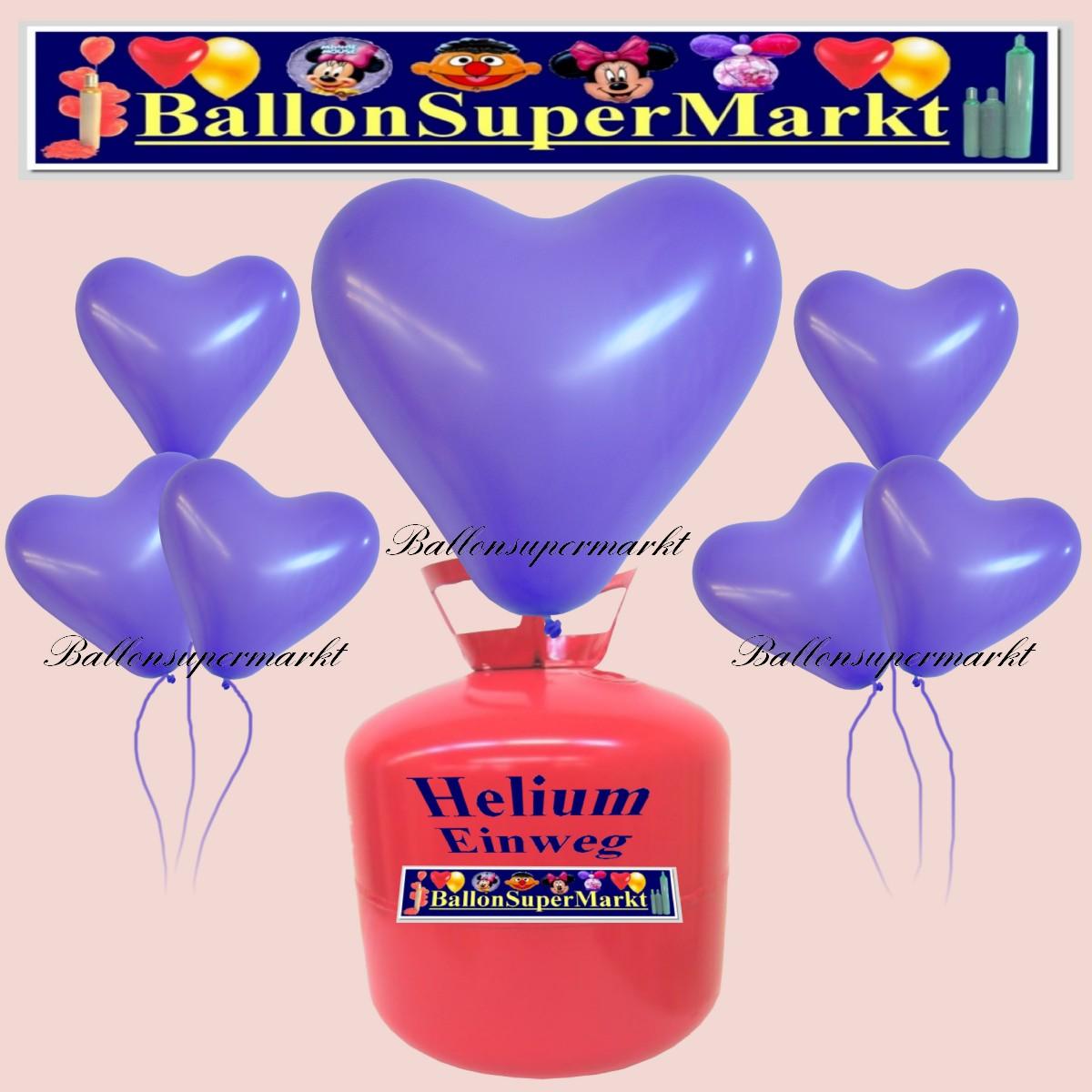 luftballons helium einweg set herzluftballons lila 50 st ck lu hs luftballons helium einweg. Black Bedroom Furniture Sets. Home Design Ideas