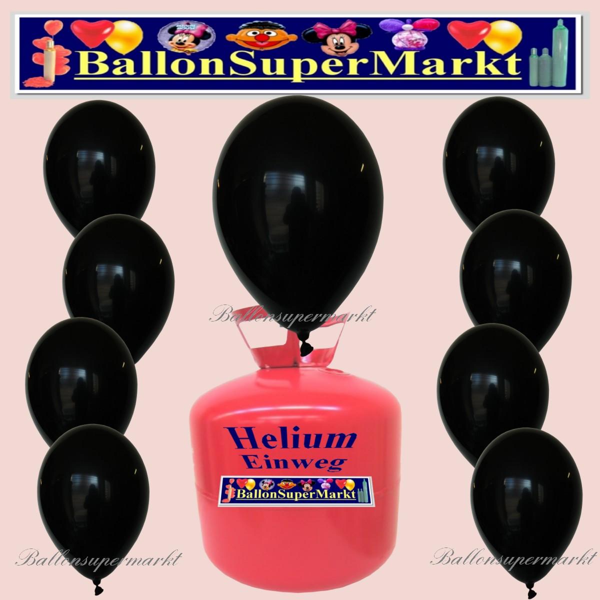 luftballons helium einweg set rundballons schwarz 30. Black Bedroom Furniture Sets. Home Design Ideas