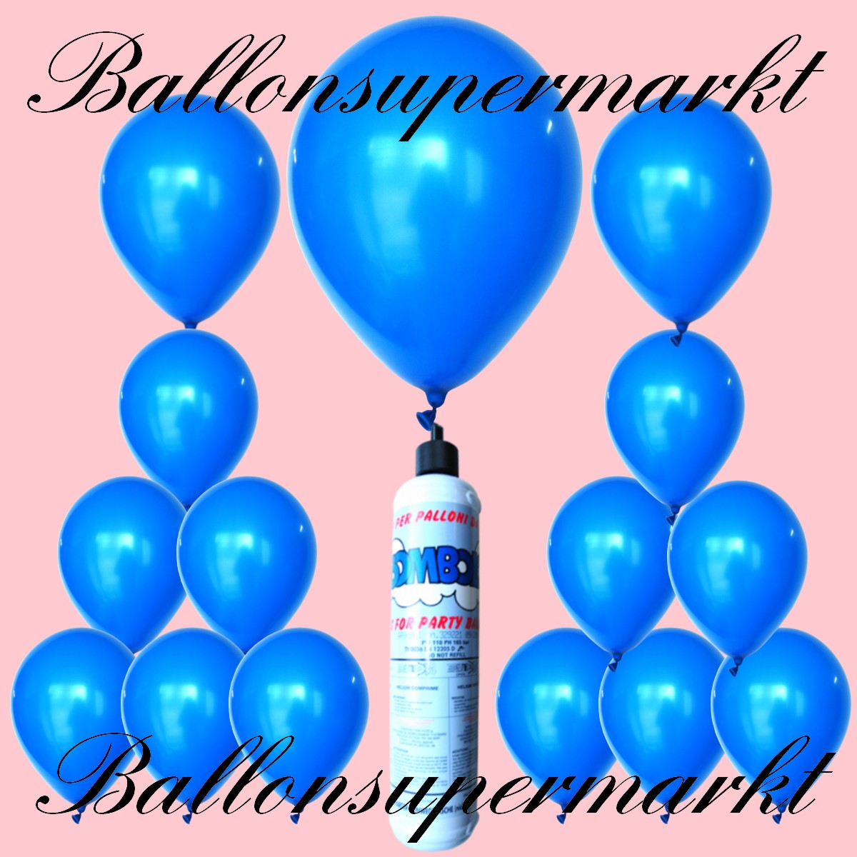 luftballons helium set miniflasche latex luftballons in blau lu luftballons helium mini set. Black Bedroom Furniture Sets. Home Design Ideas