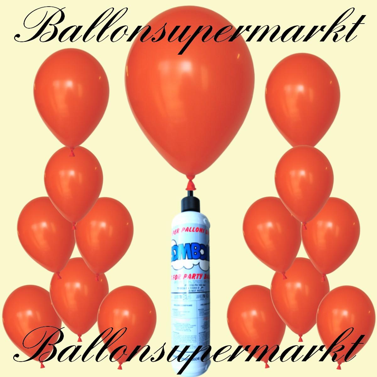 luftballons helium set miniflasche latex luftballons in orange lu luftballons helium mini set. Black Bedroom Furniture Sets. Home Design Ideas