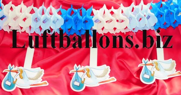 Dekoration zu geburt und taufe girlande mit st rchen blau wei lu dekoration zu geburt taufe - Dekoration taufe ...