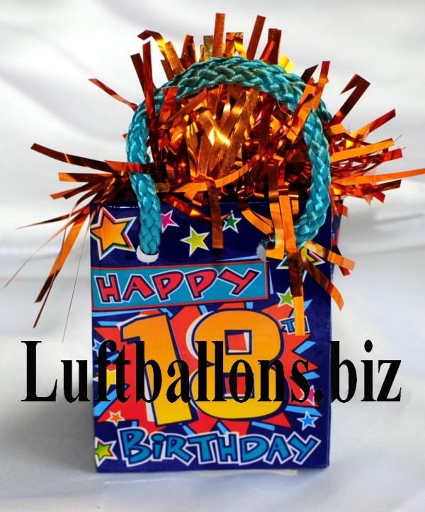 Ballongewicht geburtstag dekoration geschenkt te happy for Dekoration zum 18 geburtstag