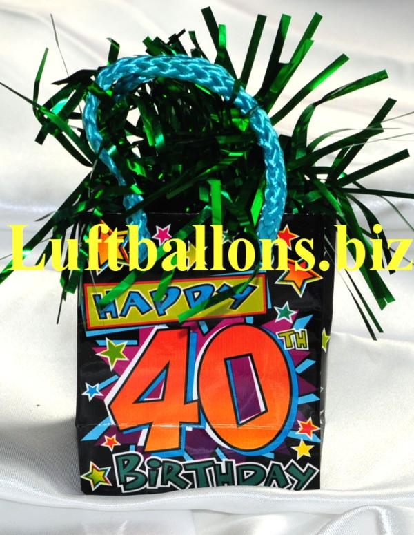 Ballongewicht Geburtstag Dekoration Geschenktute Happy 40th Birthday