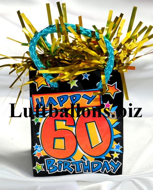 Geburtstag dekoration ballongewicht zum 60 geburtstag lu for 60 geburtstag dekoration