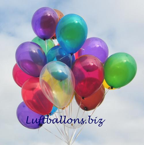 Deko luftballons kristallfarben bunt gemischt 28 30 cm 100 st ck lu deko luftballons k 1 - Luftballon deko ...