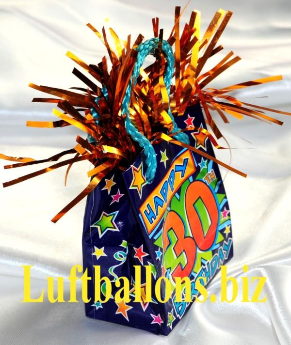 Geburtstag dekoration ballongewicht zum 30 geburtstag lu for Dekoration 30 geburtstag