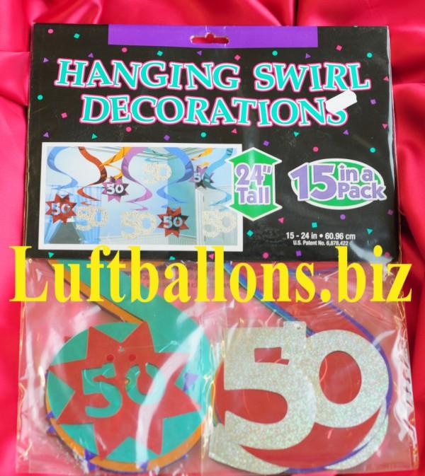 Geburtstag dekoration wirbler dekoration 50 geburtstag for Dekoration 50 geburtstag