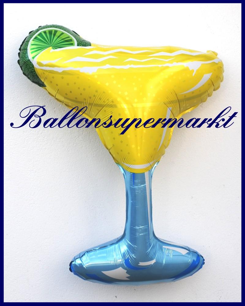 Cocktail glas margarita deko luftballon aus folie lu luftballons deko folie cocktail glas - Luftballon deko ...