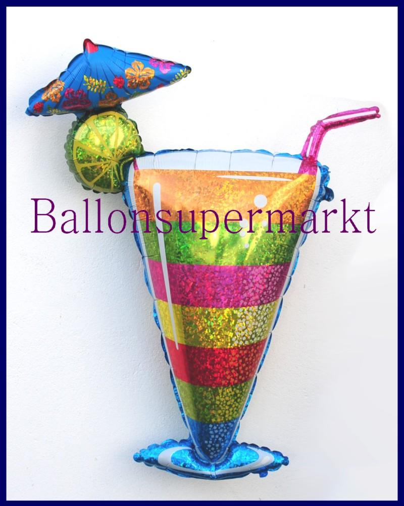 tropical cocktail glas deko luftballon aus folie mit helium lu luftballons deko folie cocktail. Black Bedroom Furniture Sets. Home Design Ideas