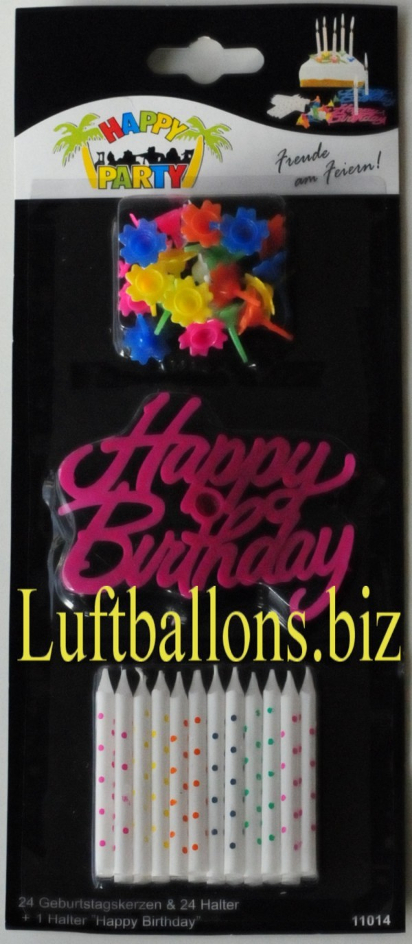 Geburtstagskerzen Set Tortenkerzen Mit Happy Birthday