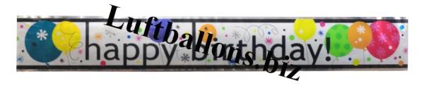 geburtstag dekoration riesen banner happy birthday. Black Bedroom Furniture Sets. Home Design Ideas